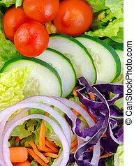 frais, salade jardin