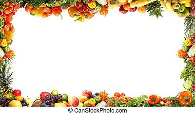 frais, savoureux, légumes, fractal