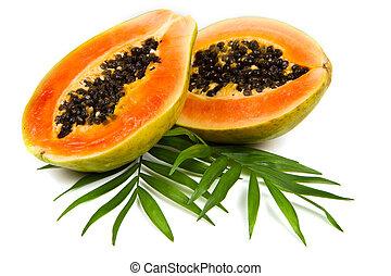 frais, savoureux, papaye
