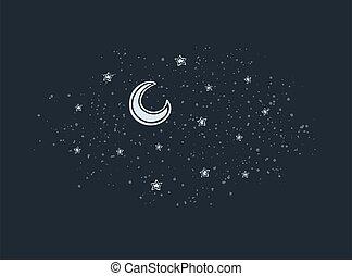 frais, univers, ciel, nuit