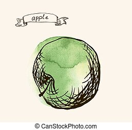 frais, utile, eco-amical, pomme