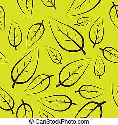 frais, vert, pousse feuilles, modèle