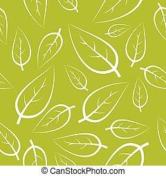 frais, vert, pousse feuilles, texture