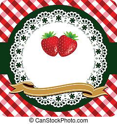 fraise, étiquette