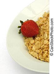 fraise, céréale