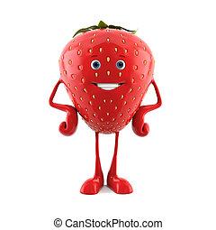fraise, caractère