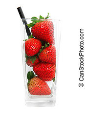 fraise, concept, jus