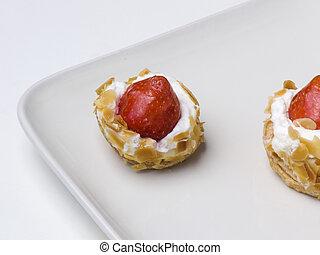 fraise, doux, dessert