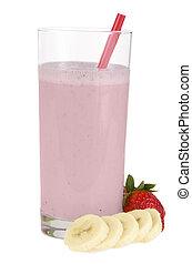 fraise, et, banane, smoothie
