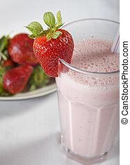 fraise fraîche, smoothie