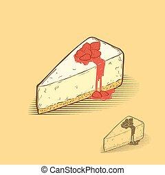 fraise, fromage, gâteau