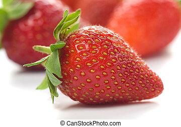 fraise, fruit frais