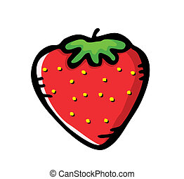 fraise, griffonnage