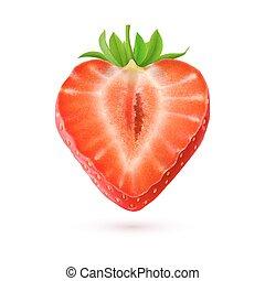 fraise, illustration, halftone