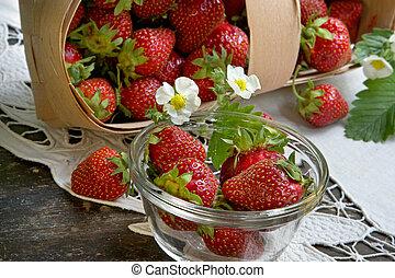 fraise, juteux