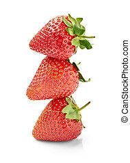 fraise, nourriture, fruit