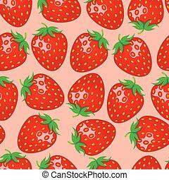 fraise, seamless, modèle