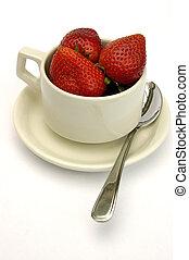 fraise, tasse