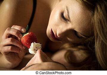fraise, usage, foreplay