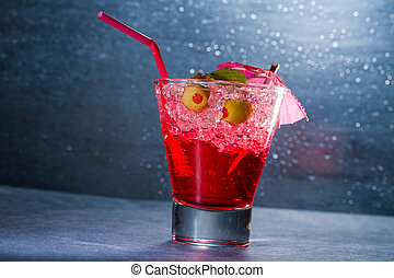 fraise, verre cocktail