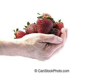 fraises, poignée
