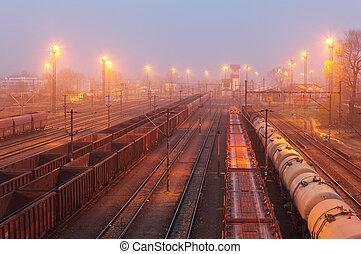 frakt,  -, gods, Tåg, Järnväg, transport