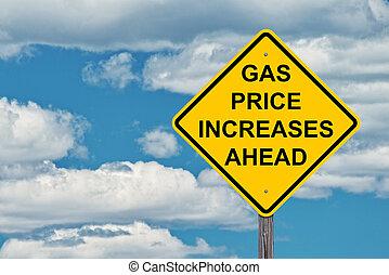 framåt, pris, gas, underteckna, ökar, varning