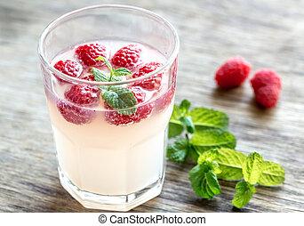framboise, -, limoncello, cocktail, étincelant