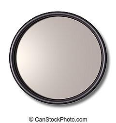 framde, círculo, tridimensional, plata, redondo