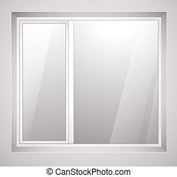 frame., イラスト, プラスチック, 窓, ベクトル, 白