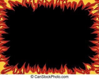 frame., 炎, 火, edges., 炎, 背景