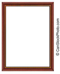 wooden framework - Frame - a wooden framework for a photo...