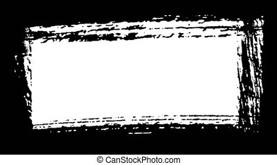Frame - Abstract Black Paint Brush Strokes - Black and white...