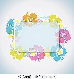 frame, abstract, tropische