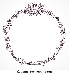 frame., abstrakcyjny, list miłosny, element, elegancki, urodziny, ślub, kwiatowy, kreska, dzień
