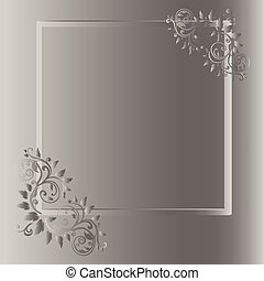 frame, achtergrond, grijze , ouderwetse