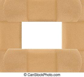 frame adhesive plaster isolated on white background