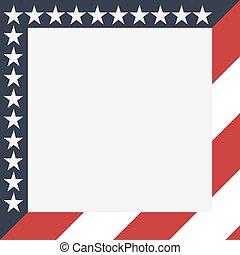 Frame American Flag