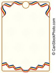 Frame and border of Andorra colors flag
