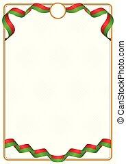 Frame and border of Belarus colors flag