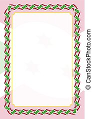 Frame and border of ribbon with Burundi flag, template elements for your certificate and diploma. Vector