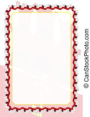 Frame and border of ribbon with Gibraltar flag, template elements for your certificate and diploma. Vector