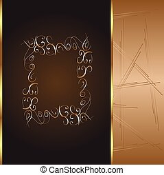 frame and border with gold pattern. vector illustration