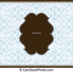 Frame and seamless background. Vector illustration