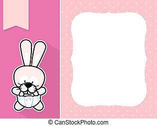 frame baby bunny