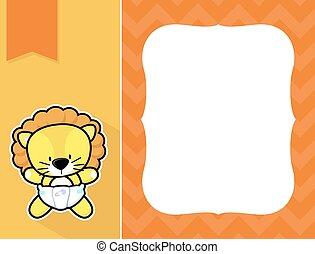 frame baby lion