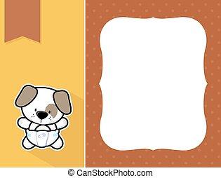 frame baby puppy