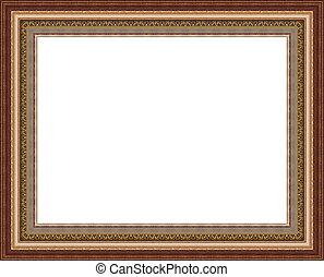 frame<<, bac, 木製である, 美しい, 写真