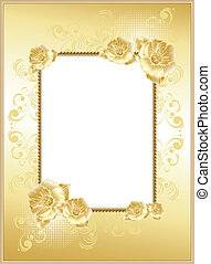 frame-background with flowers