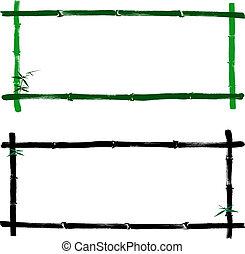 frame, bamboe